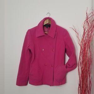 Finity | Bubblegum Pink Wool Classic Pea Coat XL